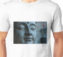 Buddha, in Blue. Unisex T-Shirt