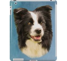 Border Collie Dog Pet Water Color Art Painting iPad Case/Skin