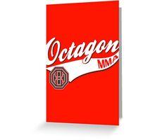 Octagon Baseball Logo Greeting Card