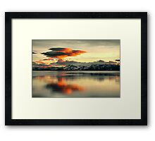 Atmospheric Explosion Framed Print