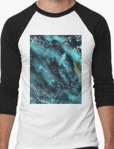 Dirk Hartog Island Australia Satellite Image  Men's Baseball ¾ T-Shirt