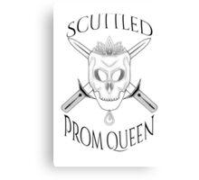 Prom Queen Black Canvas Print