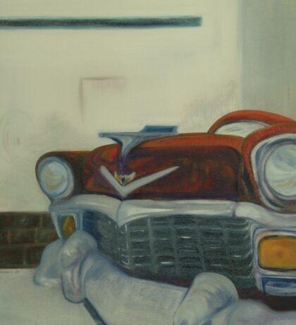Chevy-astract impressionism Sticker