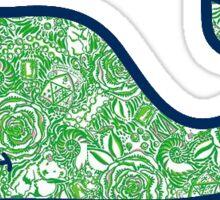 Vineyard Vines Green Lilly Sticker