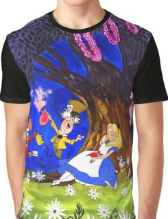 Alice In Wonderland On Canvas Graphic T-Shirt