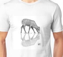 Reflective Deer Line Work Vector  Unisex T-Shirt