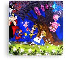 Alice In Wonderland On Canvas Canvas Print
