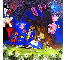 Alice In Wonderland On Canvas Photographic Print