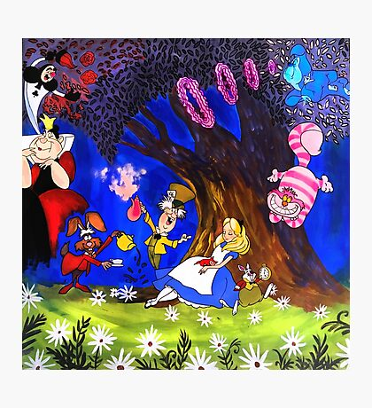 Alice In Wonderland On Canvas Photographic Print