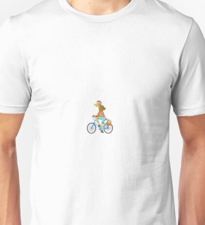 Big City Vehicles - Giraffe Riding Bicycle Unisex T-Shirt