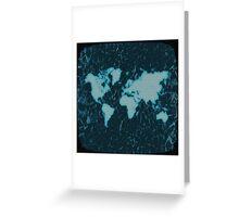 World Map TV Greeting Card