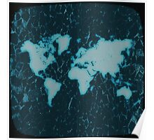 World Map TV Poster