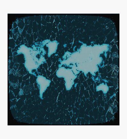 World Map TV Photographic Print