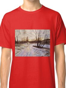 Sunset Reflections On Ice Classic T-Shirt