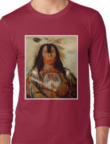 Buffalo Bull's Back Fat-War Chief of The Blood Indians Long Sleeve T-Shirt