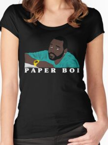 All About That Paper Boi Women's Fitted Scoop T-Shirt