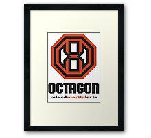 Octagon MMA Original Logo Framed Print