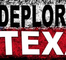 DEPLORABLE TEXAN with STAR in RED, WHITE, BLUE, BLACK Sticker