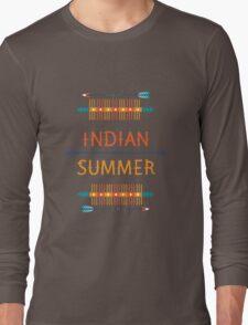 Ornamental round ethnic geometric pattern, circle background  Long Sleeve T-Shirt