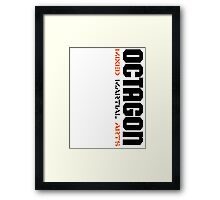 Octagon MMA Vertical Framed Print