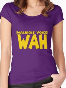 Waluigi voice Women's Fitted Scoop T-Shirt