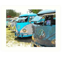 Surfs up and the VW-Bus Art Print