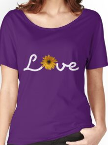 Love with flowers - White Women's Relaxed Fit T-Shirt