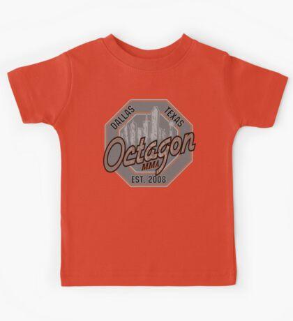 Octagon MMA Skyline Logo Kids Tee