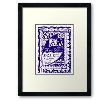 Star of the Sea (illumination) Framed Print