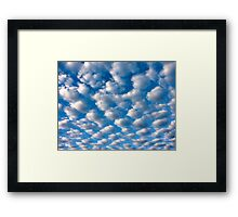 clouds perspective Framed Print