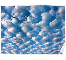 clouds perspective Poster