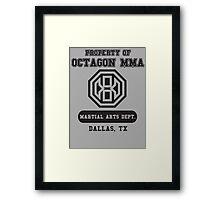 Octagon MMA Property Logo Framed Print