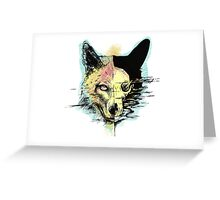 wulf in colour Greeting Card
