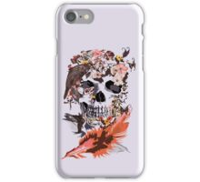 Birds, butterfly and Sugar Skull iPhone Case/Skin