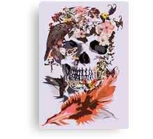 Birds, butterfly and Sugar Skull Canvas Print