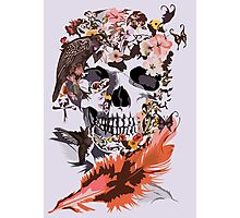Birds, butterfly and Sugar Skull Photographic Print