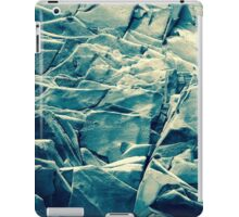 Cracked Rocks Blue iPad Case/Skin