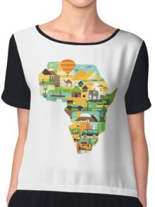 Africa Is Amazing - A Detailed Illustrated African Culture Design Women's Chiffon Top