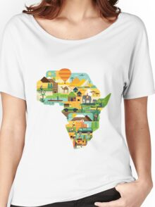 Africa Is Amazing - A Detailed Illustrated African Culture Design Women's Relaxed Fit T-Shirt