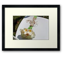 And The Bride Wore White Framed Print