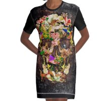 Animal Kingdom Sugar skull Graphic T-Shirt Dress