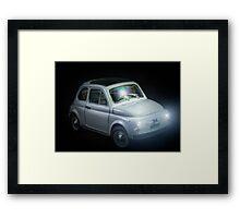 FIAT 500 in black background Framed Print
