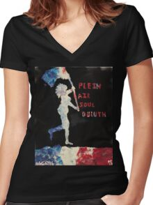 Plein Air Soul Duluth Women's Fitted V-Neck T-Shirt