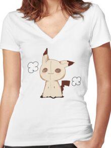 Mimikkyu - Pokemon Sun & Moon Women's Fitted V-Neck T-Shirt