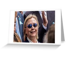 hilary v morhpeuos who would win Greeting Card