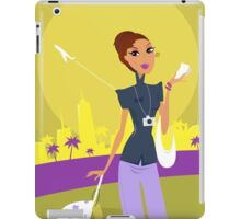 Stylish woman on her travels at airport iPad Case/Skin