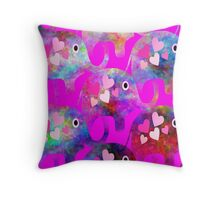 Girly Elephants Throw Pillow