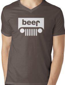 Beer Jeep Mens V-Neck T-Shirt