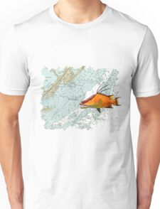 Hogfish on a Chart Unisex T-Shirt