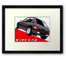 Peugeot 205 GTI 1.9 grey Framed Print